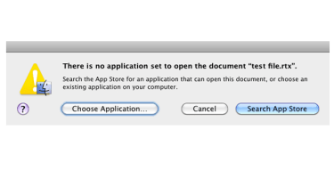 If you attempt to open a document for which you don't have the right app, MacOS X 10.6.6 offers to search the Mac App Store f
