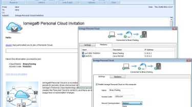 When users receive their Personal Cloud email invitation they can download the Storage Manager which has their username and a