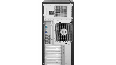 The remote management controller has a dedicated network port or can share access with the first Gigabit Ethernet network por