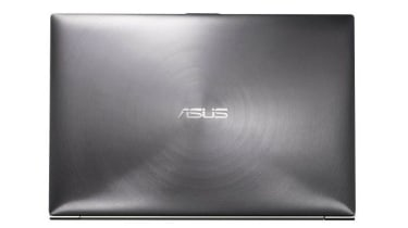 The Asus Zenbook has a seductively touchable brushed metal lid.