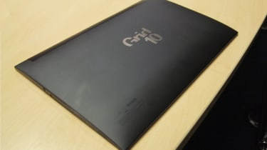 The Grid10 has a curved back and a surprisingly rigid design.