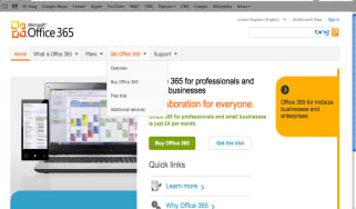 Microsoft Office 365 home page