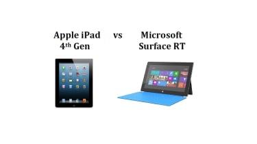 Apple iPad 4th Gen vs Microsoft Surface RT