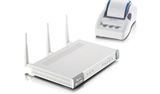 The Zyxel N4100 Wireless Hotspot Gateway with SP300E Ticket Printer