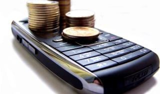 Mobile with coins