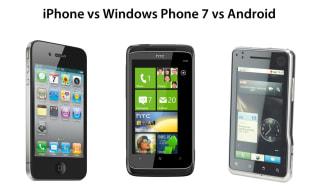 iOS vs Windows Phone 7 vs Android