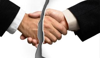 Broken handshake (end of business deal)