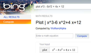 Bing using Wolfram Alpha