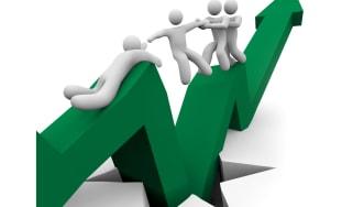 End of recession green arrow