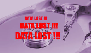 Hard drive with lost data