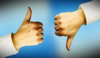 thumbs up/thumbs down