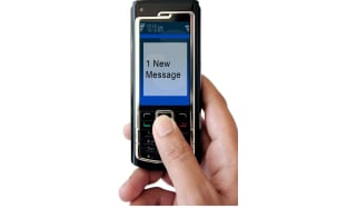 Text message on phone