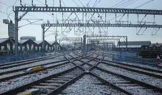 Network Rail railway track