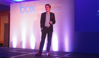 Box CEO Aaron Levie on stage