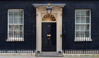 The front door of 10 Downing Street