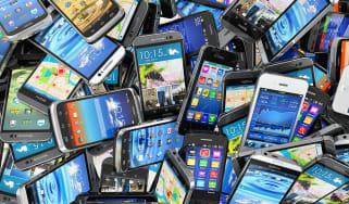 Smartphones pile