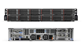 Lenovo ThinkSystem SD530 front and rear view