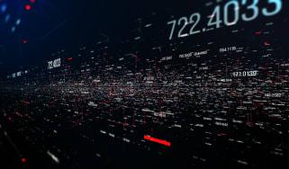 Numbers against dark background