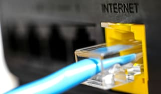 Ethernet cable in router