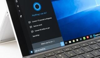 The Cortona screen on Windows 10