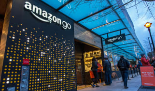The exterior of an Amazon Go retail shop