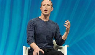Zuckerberg on stage