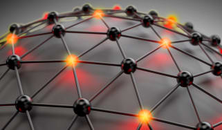 Visual representation of nodes on a network