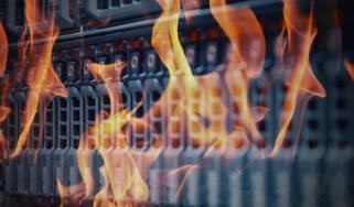 Server on fire