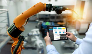 robotic automation software in a factory