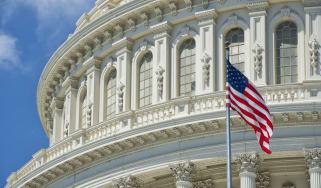 US flag outside Congress