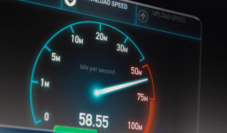 A dial showing the speed of an internet provider