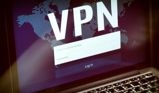 VPN log in screen displayed on a computer screen