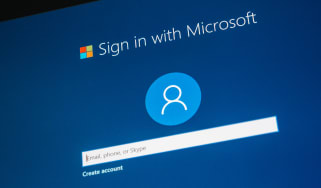 Microsoft sign-in page on screen