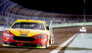 NASCAR car driving