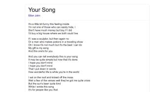 Lyrics on google screenshot