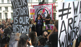 Protesting against the Windrush scandal