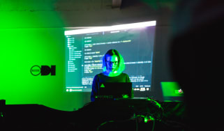 A woman coding on her laptop at the Leeds Digital Festival