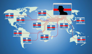 Map of Russian-originating bots connected together through a botnet