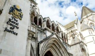 The outside of the UK High Court