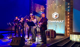 Band playing at the Commvault GO 2018 conference