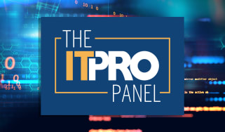 The IT Pro Panel logo on a background of computer code