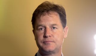 Nick Clegg looking at something