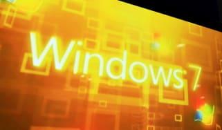 Windows 7 logo in orange