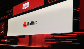 Red Hat logo on a white background