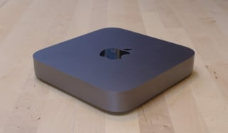 The Apple Mac Mini (2018) from an angle