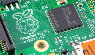 Image of Raspberry Pi running Raspberry Pi OS