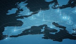 Digital map of Europe