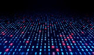 Binary code graphic to represent vast amounts of data