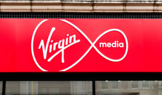 Logo of Virgin Media telecommunications company
