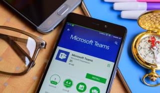 The Microsoft Teams app used on a smartphone